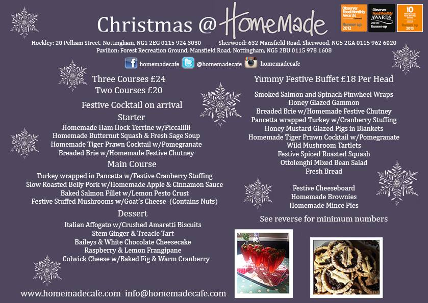 Homemade Christmas Menu 2013